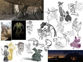 Discworld Sketchdump II by rhianimated