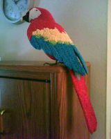 3D origami Macaw by dfoosdc