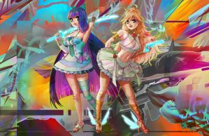 Panty and Stocking by UponThouFairCat
