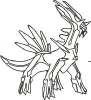 Dialga Sketch by CoolMan666