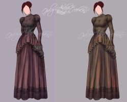 Victorian Dresses - Outfit Adopt (Open) by Girly-Adoptables