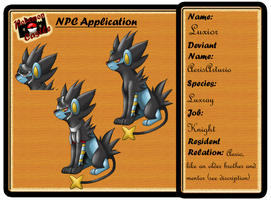 NPC Luxior pokemon castle app by AerisArturio