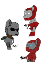 Iron Mane Concepts Mk I, II and III by Shadowpredator100