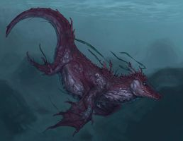 Minoan Monster Whale by dragonictoni