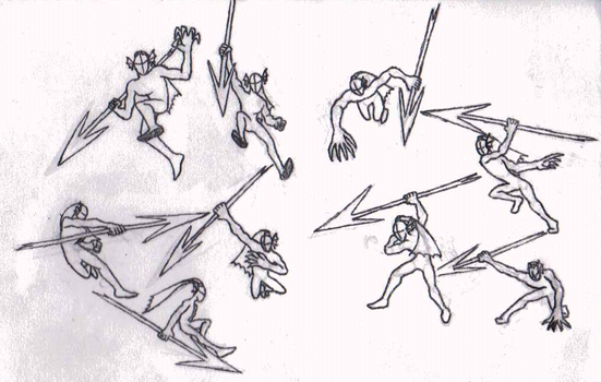 Sketchbook Page 218: Undyne Battle Poses by DRAGONLOVER101040