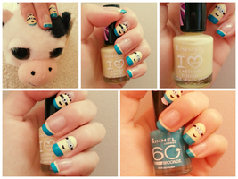 Despicable Me [ nail art ] by Quintaru
