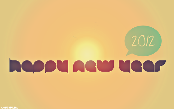 Happy new year 2012 wallpaper by Aminebjd