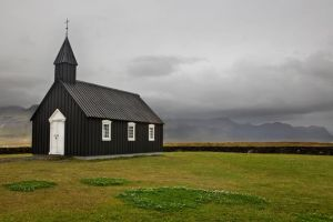 Black Church at Budir, Iceland by cwaddell