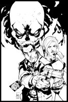 Gun Ghoul #2 Cover Inked by NicholasGentile
