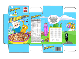 Adventure Time cereal box by steemedrice