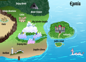 Eponia Map by The-Clockwork-Crow