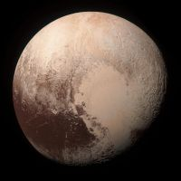 New Horizons Pluto Mosaic (True-color Edit) by harbingerdawn