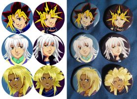 Commission Buttons: YGO by Quatrina