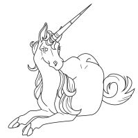 Unicorn lineart by raskk