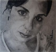 Portrait of Mexican girl - Retrato chica mexicana by tlacuilopilo