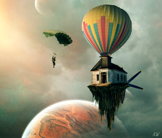 Flying House by kw9015