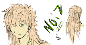 .: Noiz with long hair -color- :. by SapphireItrenore