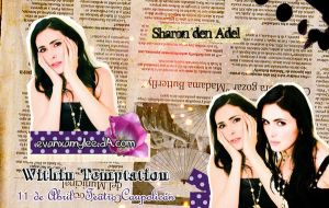 Sharon den Adel Wall by evanxamylee