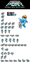 Mega Pony - Rainbow Dash/Loyal Mare Spritesheet by KhaoMortadios