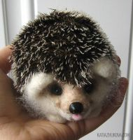 Ezhik the Hedgehog  (Needle Felted) by KatiaZhukova