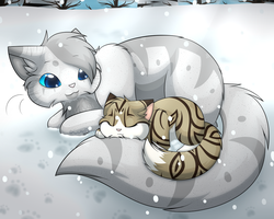 LUtT - Sleeping in the Snow by FlareAKACuteFlareon
