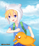 Anime Finn and Jake by SakuraAlice33