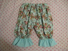 Blue Floral and Polka Dot Bloomers by SeraphimFeathers