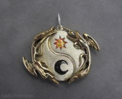 Luna and Celestia pendant - MLP by anubiscollections
