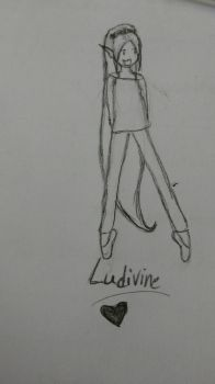 one sketch of one of my OC by lucie-boulette