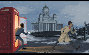 Inspector Spacetime: From Helsinki With Love by graffitihead