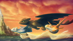 HTTYD Pokemon Crossover: Commie for TheModerator by streetdragon95