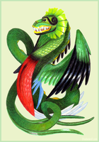 Quetzalcoatl by shadee