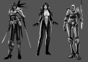 Female concepts by NanadoRJ