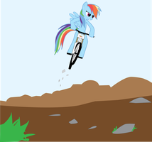 Rainbow Dash goes Downhill by Hoodie-Stalker