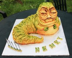 Star Wars Jabba the Hutt Cake by KatesKakes