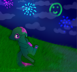 Watching Fireworks by Lillytehcat