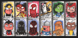 2013 Marvel Fleer Retro sketch cards 036-048 by thecheckeredman
