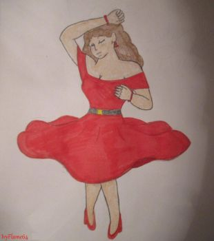 Lady in Red by IvyFlame64