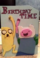 Adventure time birthday card by MeowMowRaa