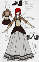 Attack on Titan Uniform Dress Color by Maygirl96