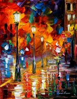 Chill energy by Leonid Afremov by Leonidafremov