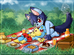[Commission] Picnic time by Veemonsito
