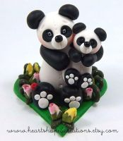 Eternal Love Panda and Baby by HeartshapedCreations