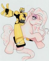 Bumblebee with a Pony by Darkenlite