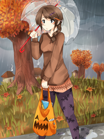 Stuck out in an Autumn Downpour by TangolaDude