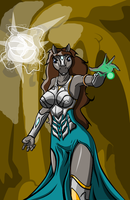 Isis Fire-eater Archmage of Glaemoria by TITANOSAUR
