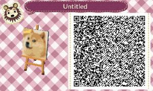 Doge ACNL QR Code by SpykeXD