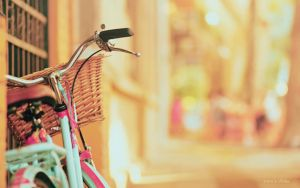 wallpaper ride a bike with me :D by Analaurasam