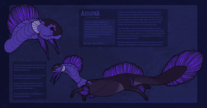Anurak the Betta Dragon - Ref 2013 by AlanaRoseheart