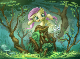 Watch Your Step in the Everfree by Ruffu